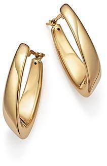 Bloomingdale's 14K Yellow Gold Medium Visor Hoop Earrings - 100% Exclusive