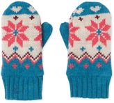 Petit Bateau Girls mittens with jacquard pattern