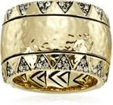 House Of Harlow 190 Gold-Tone Safari Band Ring