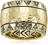 House Of Harlow Gold-Tone Safari Band Ring, Size 5