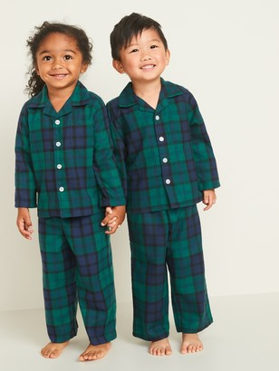 Old Navy Plaid Soft-Brushed Twill Pajama Set for Toddler & Baby