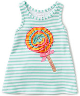 Mud Pie Baby Girls 9-12 Months Ice Cream Appliqued Striped Dress