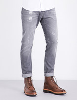 Brunello Cucinelli Distressed leisure-fit skinny jeans