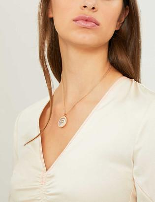 Chopard Happy Spirit 18ct rose-gold, white-gold and diamond pendant
