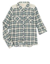 Miss Me Girl's Mixed Plaid Shirt