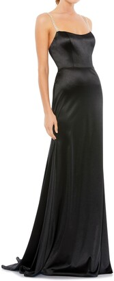 Mac Duggal Square Neck Sheath Gown