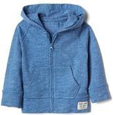 Slub zip hoodie