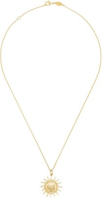 Anni Lu Gold Lady Liberty pendant necklace
