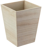 Container Store Square White Washed Wastebin