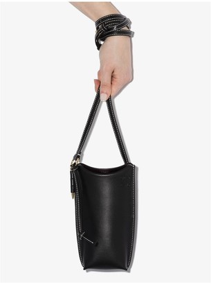 Loewe black Gate Pocket leather bucket bag
