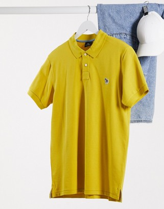 Paul Smith slim fit zebra logo polo in yellow