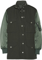 Alexander Wang Twill And Satin Parka - Army green