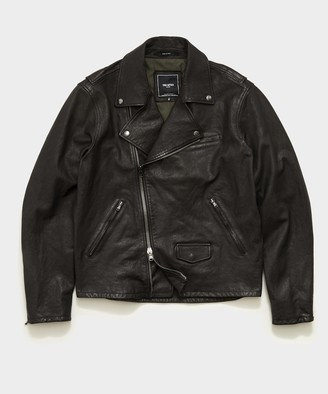 Todd Snyder Italian Leather Moto Jacket in Black