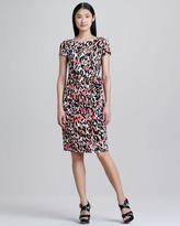Lafayette 148 New York Dip Dye Animal-Print Dress