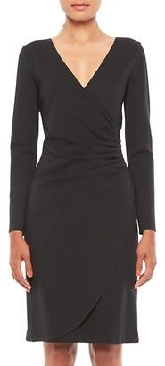 Emporio Armani V-Neck Long-Sleeve Dress