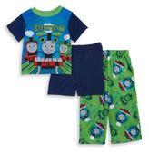 AME Sleepwear Little Boy's Thomas the Tank Engine Pajama Tee, Shorts and Pants Set