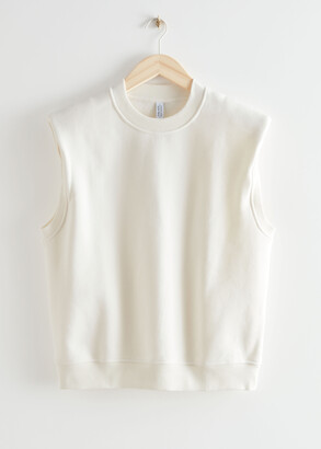 And other stories Relaxed Padded Shoulder Top