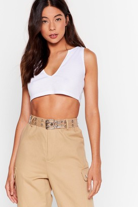 Nasty Gal Womens Clear Out Studded Belt - White - One Size