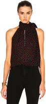Saint Laurent Sleeveless Crepe Blouse