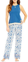Lucky Brand Fringed & Floral Pajamas