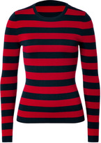 Michael Kors Red/Navy Striped Cashmere Pullover