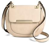 Mossimo Women's Solid Saddle Crossbody Faux Leather Handbag