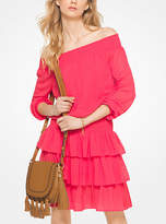 Michael Kors Ruffled Chiffon Off-The-Shoulder Dress