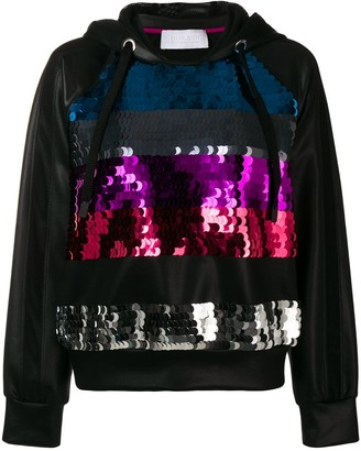NO KA 'OI Sequinned Stripes Hoodie
