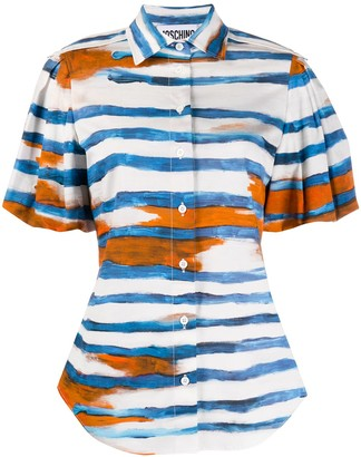 Moschino Striped Short-Sleeve Shirt
