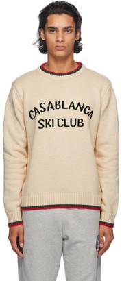 Casablanca Off-White Ski Club Sweater