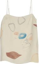 ADAM by Adam Lippes Printed silk camisole