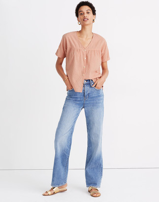Madewell Rhyme Button-Front Top in Clipdot