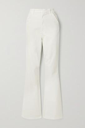 J BRAND - Runway Cotton-blend Corduroy Flared Pants - Ivory
