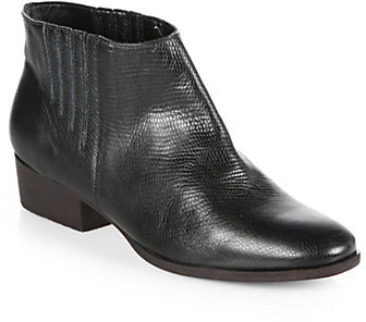 Rachel Comey Snake-Print Leather Short Ankle Boots