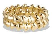 David Yurman Armory Band Ring In 18K Gold