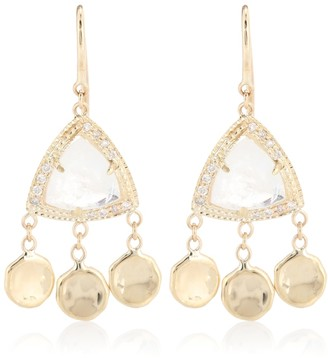 Jacquie Aiche Dia 14kt gold, diamonds and moonstone earrings