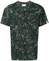 Yoshio Kubo Yoshiokubo dry leaf print T-shirt