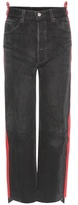 Vetements Leather-trimmed Jeans