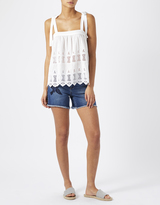 Monsoon Dahl Linen Embroidered Cami Top