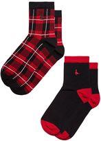 Jack Wills Pullborough 2 Pack Ankle Socks