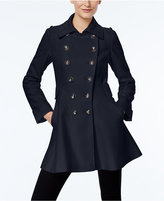 Via Spiga Double-Breasted Flared Peacoat