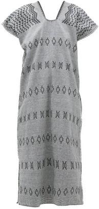 Pippa Holt - No.158 Striped Embroidered Cotton Kaftan - Womens - Black White