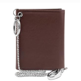 Watson & Wolfe Trifold Wallet For Belt Key Chain In Brown