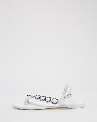 Holster Women's White Flat Sandals - Caribbean - Size One Size, 10 at The Iconic