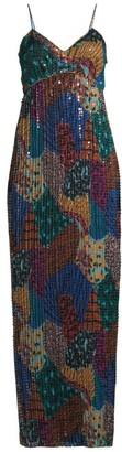 M Missoni Patchwork Sequin Column Gown
