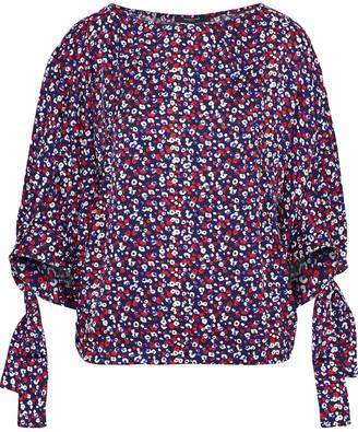 Derek Lam Floral-print Silk-jacquard Blouse