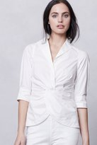 Anthropologie Twist-Front Camp Shirt