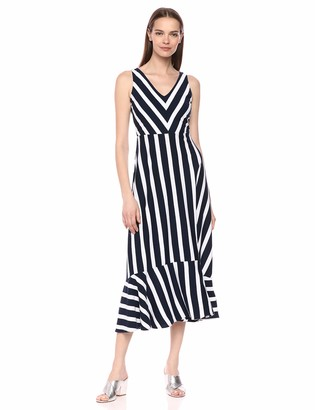 Chaps Women's Striped Cotton Dress