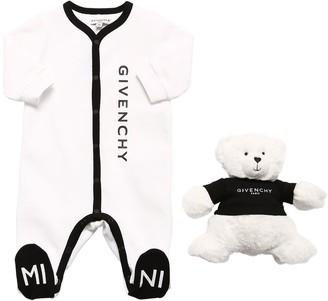 Givenchy Cotton Interlock Romper & Toy