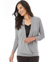 Apt. 9 Women's Faux-Wrap Sweater